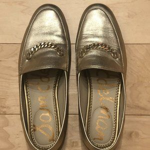 EUC Sam Edelman Gold Loafers 6.5